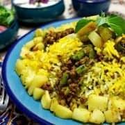 انواع غذا با گوشت چرخکرده و برنج