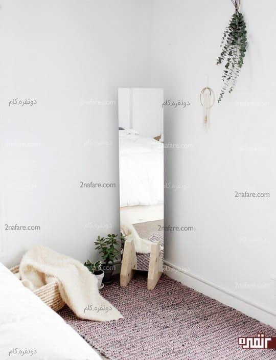 با گذاشتن یک آینه ساده به کنج خونه نما بدین