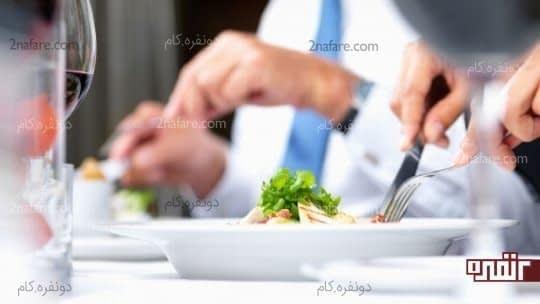 آرام تر غذا بخورید