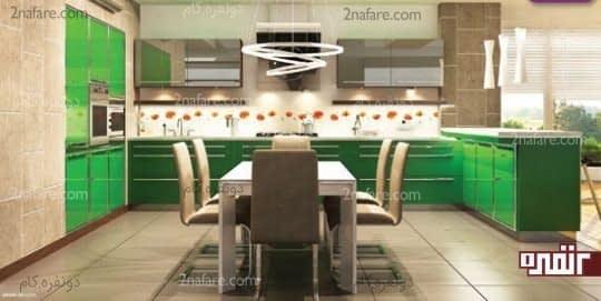 آشپزخانه ای سبز