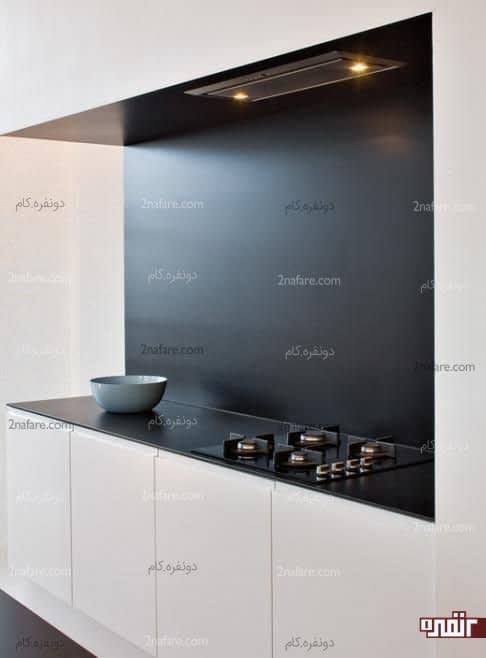 آشپزخونه کوچیک با تضاد زیبای سیاه و سفیدآشپزخونه کوچیک با تضاد زیبای سیاه و سفیدآشپزخونه کوچیک با تضاد زیبای سیاه و سفید