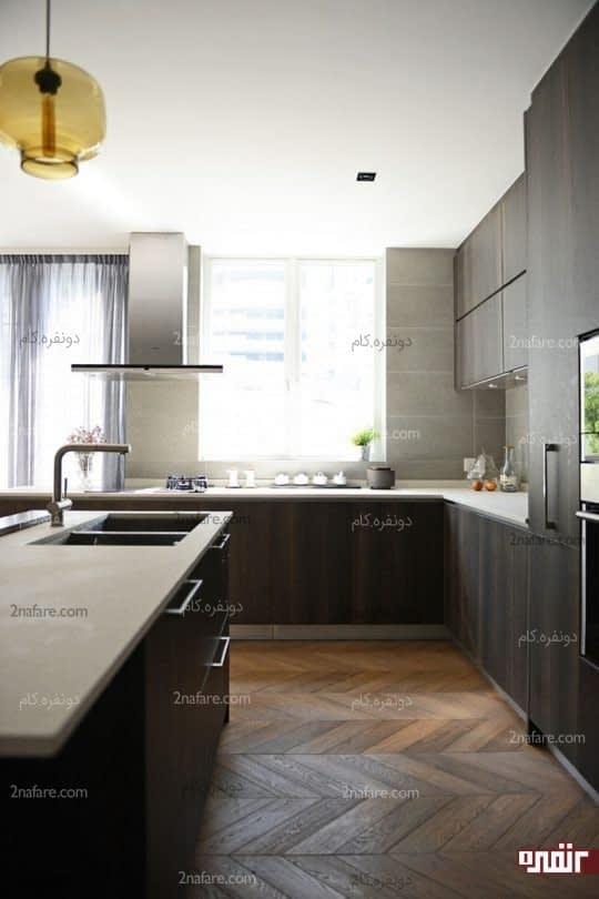 آشپزخونه ی امروزی با انتخاب رنگ مناسب