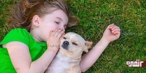 ارتباط نزدیک بین بچه ها و حیوانات
