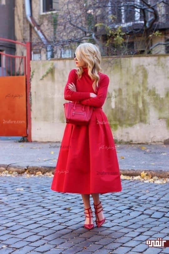 .از پوشیدن قرمز با قرمز دوری کنید