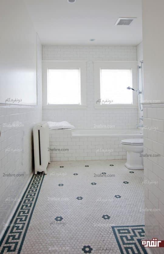 استفاده از رنگ سفید برای سرویس بهداشتی