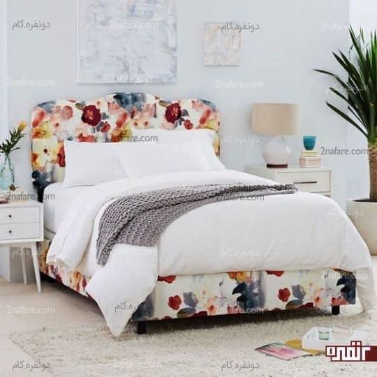 استفاده از روکش های گلدار برای تخت خواب