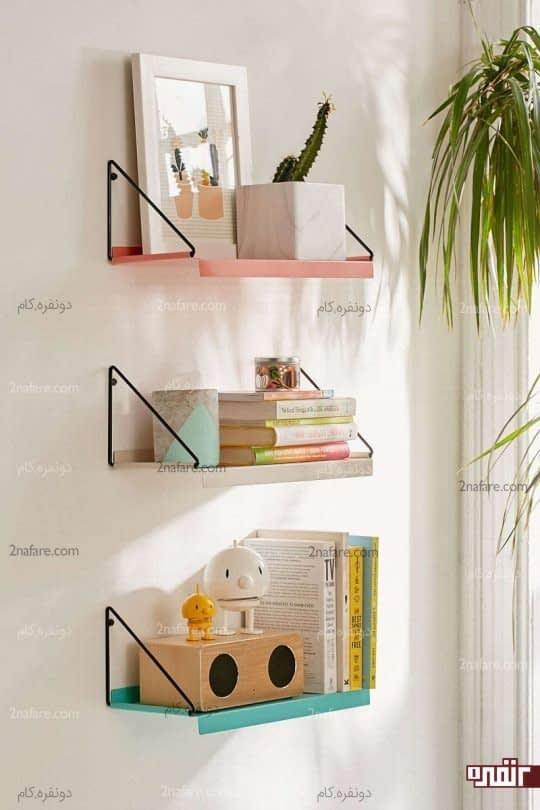 استفاده از قفسه برای دیوار