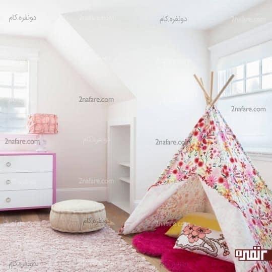 استفاده از چادر برای اتاق کودکان
