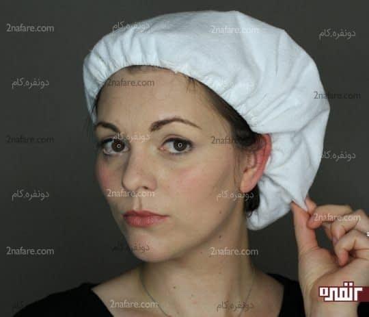 استفاده از کلاه های ضد آب در زمان انتظار تاثی ماسک مو