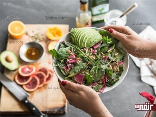 استفاده همزمان از میوه ها و سبزیجات برای دریافت فیبر بیشتر