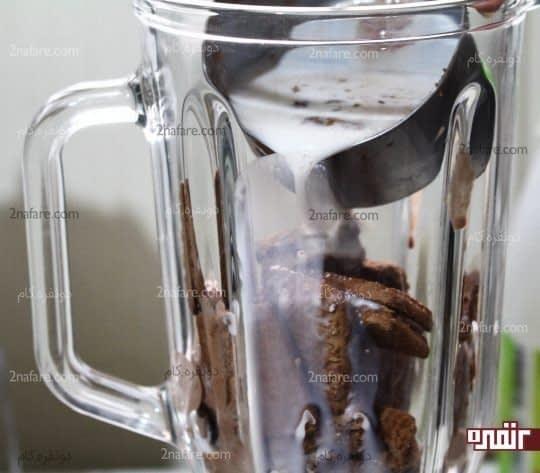 افزودن شیر یا شیر کاکائو