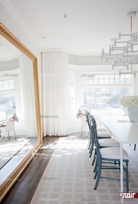 انتخاب رنگ سفید بعنوان رنگ اصلی فضا رو روشن تر نشون میده