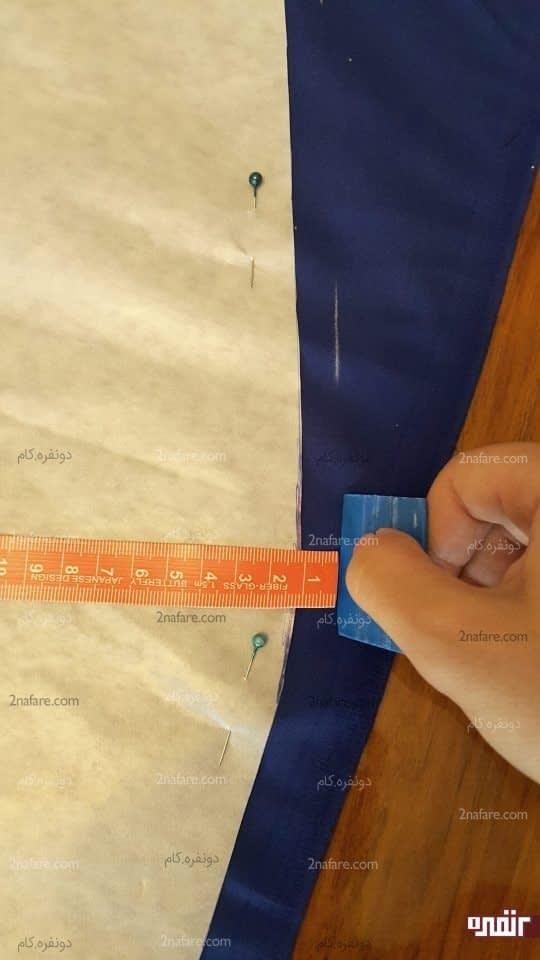 اندازه گیری یک سانتی جای برش