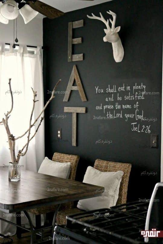 ایده ای برای تزیین دیوار آشپزخانه