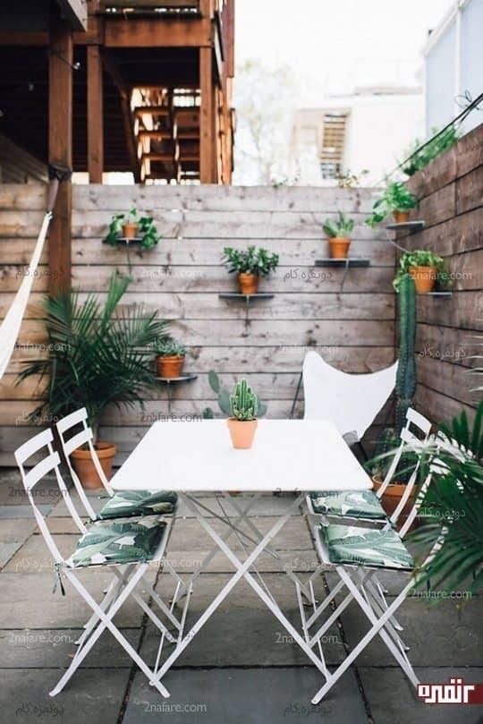بالکن ها و حیاط خلوت های سرسبز در تابستان