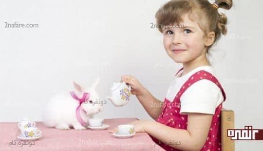 بچه ها براحتی با حیوانات ارتباط برقرار میکنن