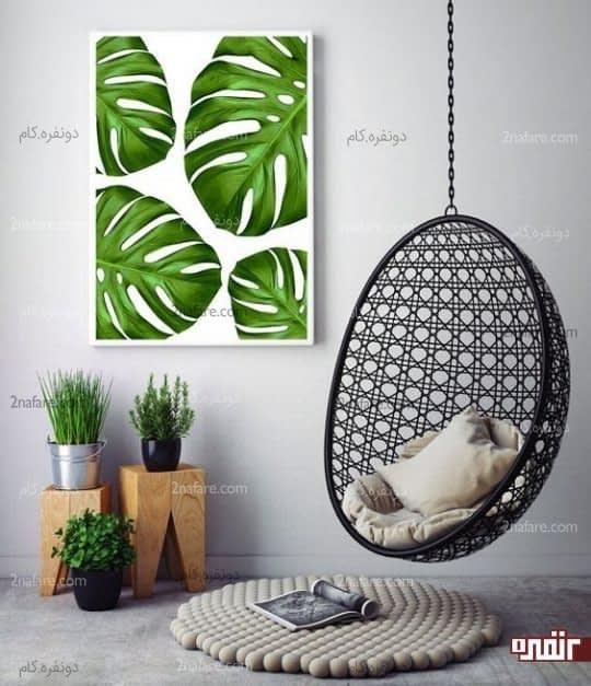 تابلویی زیبا با رنگ سبز