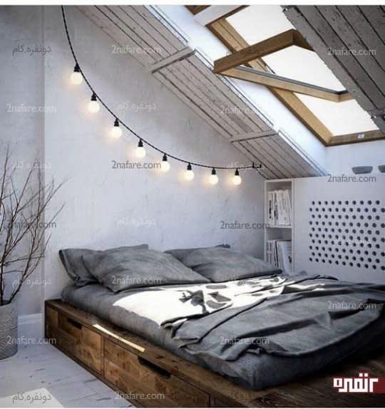 تخت چوبی و کشودار