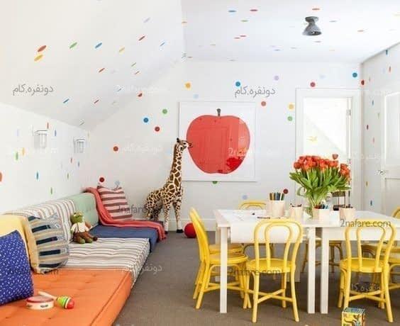 تزئین و مرتب کردن اتاق بازی کودک