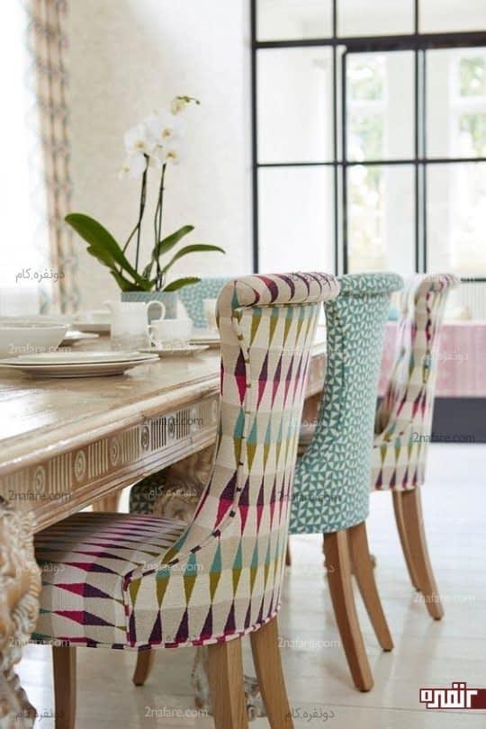 تنوع در طرح و رنگ و ایجاد نمای زیبا و جذاب برای میز نهارخوری