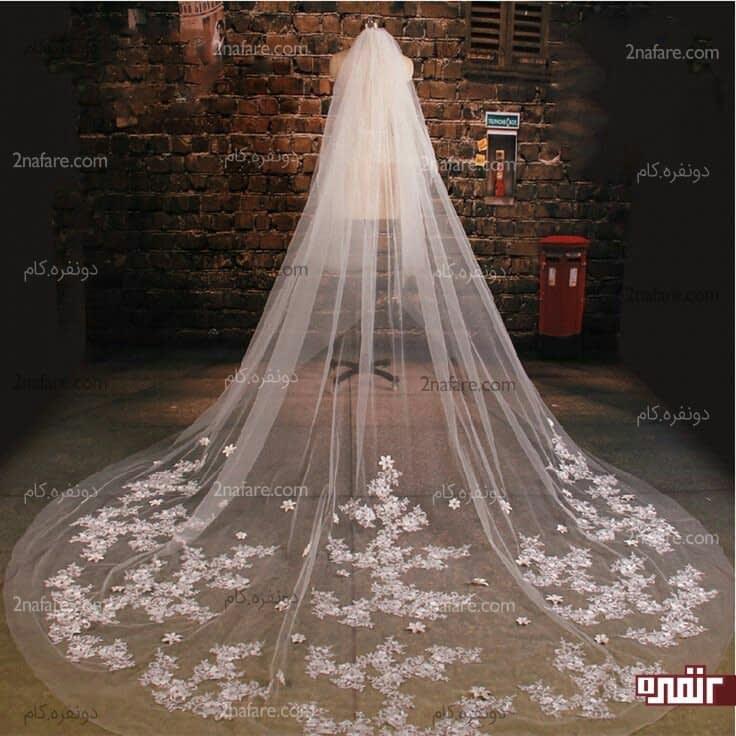 تور سر برای لباس عروس بچه مدل های تور سر عروس بلند • دونفره