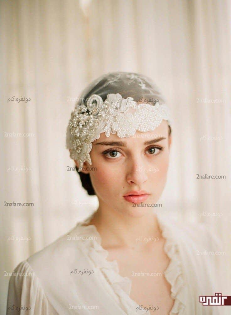 تور سر برای لباس عروس بچه مدل های خاص و جذاب تور سر عروس • دونفره