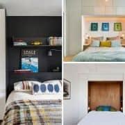 جادار کردن فضا با ساخت کمد دیواری های داخلی در دیوار پشت تخت