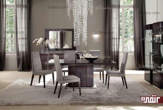 خاکستری برای اتاق غذاخوری
