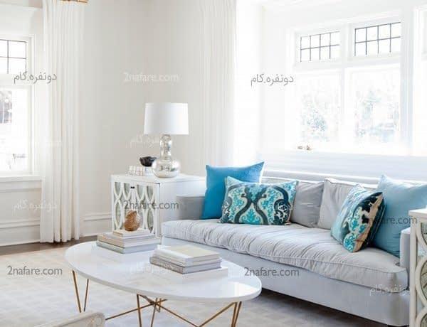 دکور زیبا برای اتاق نشیمن