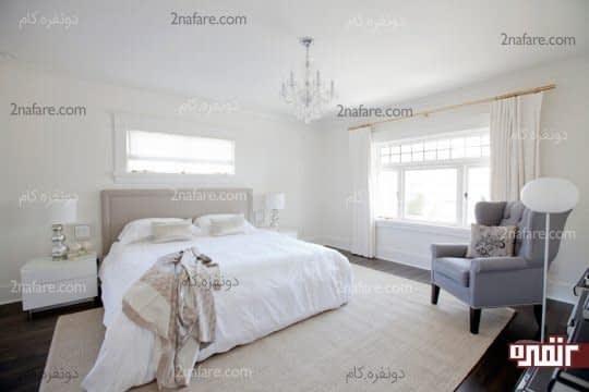 دیزاین سفید اتاق خواب
