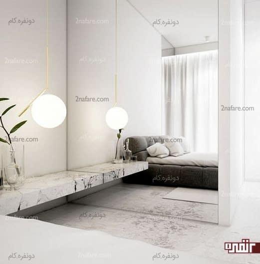 دیوار آینه ای مناسب برای اتاق خواب های کوچک