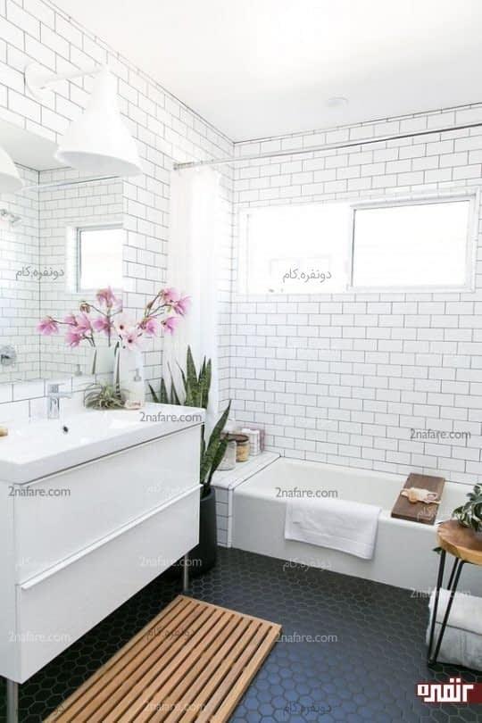 رنگ و طرحی متفاوت برای مصالح کف حمام