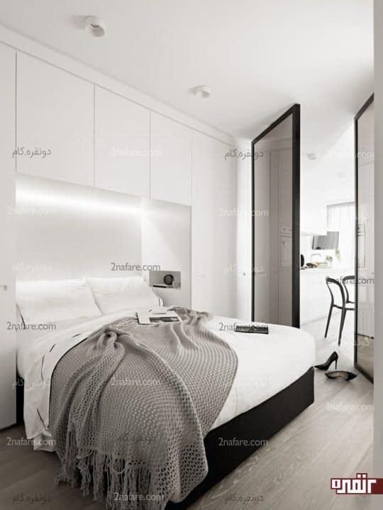 صرفه جویی در فضا و نور اختصاصی برای تخت