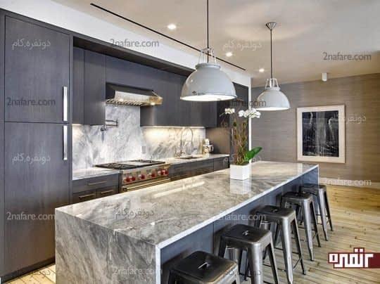 طراحی آشپزخانه به رنگ خاکستری