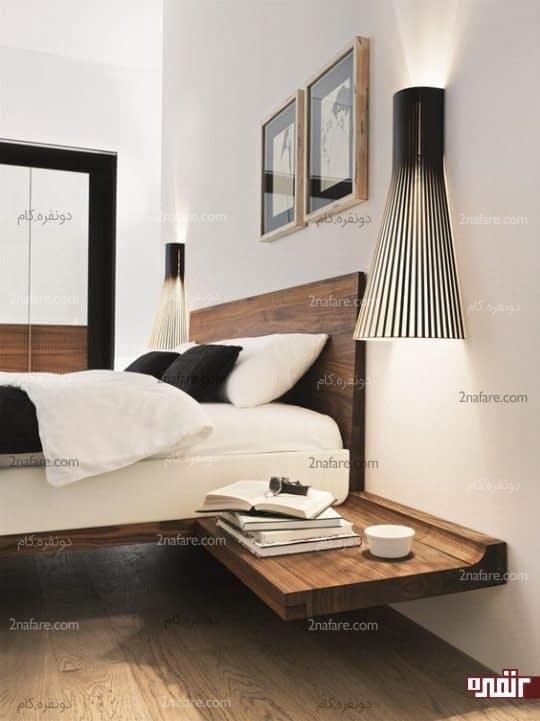 طرحی ساده و کم هزینه برای میز کنار تخت خواب
