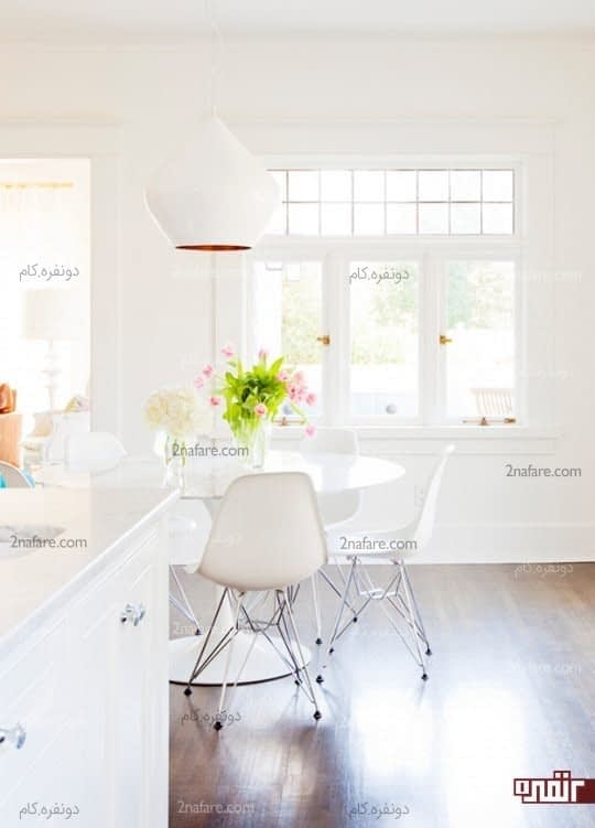 فضای زیبا برای قسمت صبحانه خوری