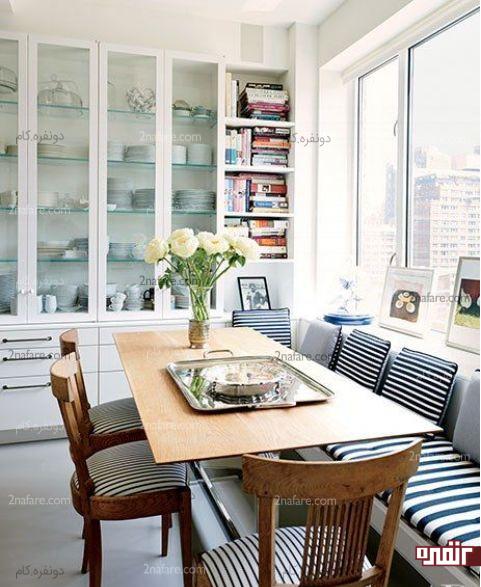 فضای زیبا و جذاب برای میز غذاخوری