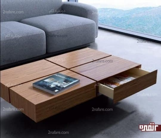 قفسه های تعبیه شده در میزهای پذیرایی