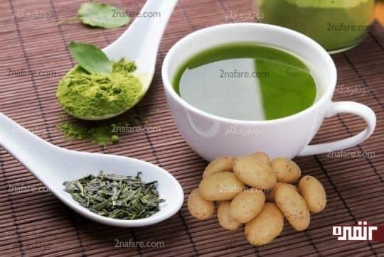 ماسک چای سبز و آب سیب زمینی