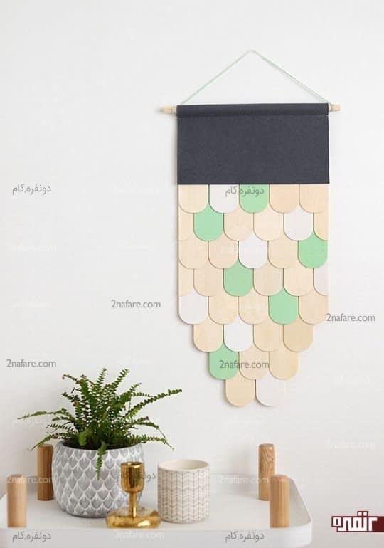 مدلی از آویز چوبی برای دیوار