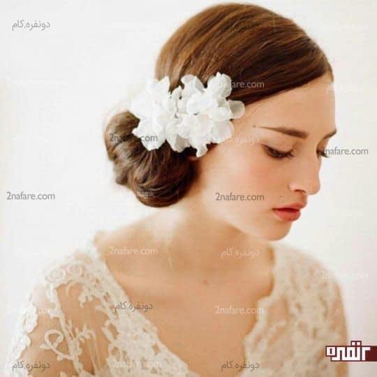 تور ساده ی عروس به شکل گل
