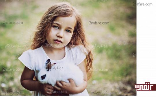 مراقبت بچه ها از حیوانات