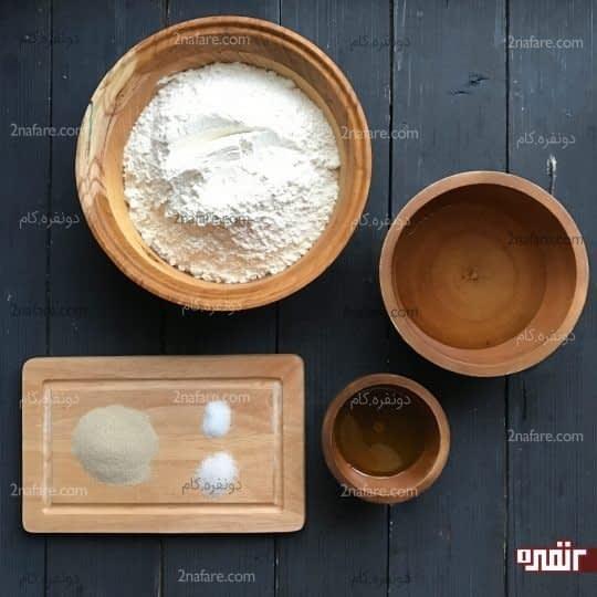 مواد لازم برای تهیه خمیر پیتزا ایتالیایی