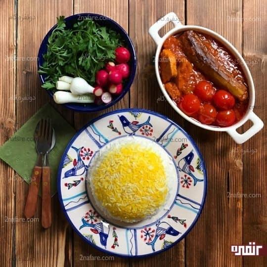 مواد لازم برای تهیه خورشت با مرغ