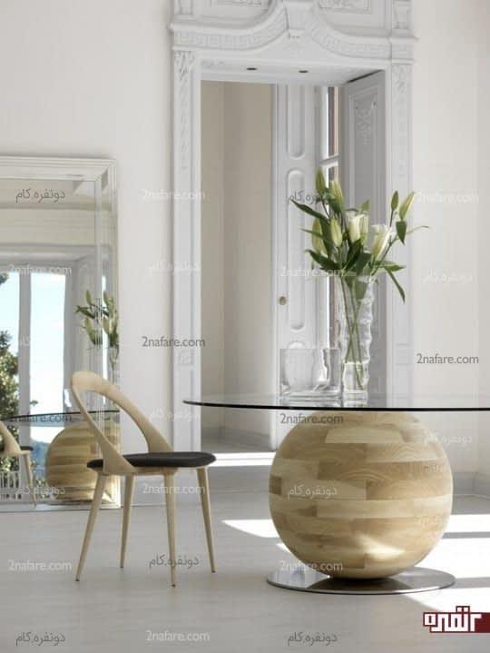 میزهای شیشه ای دکوری جذاب در خانه
