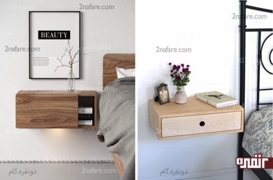 میزهای پاتختی زیبا و جادار انتخابی جالب برای اتاق خواب