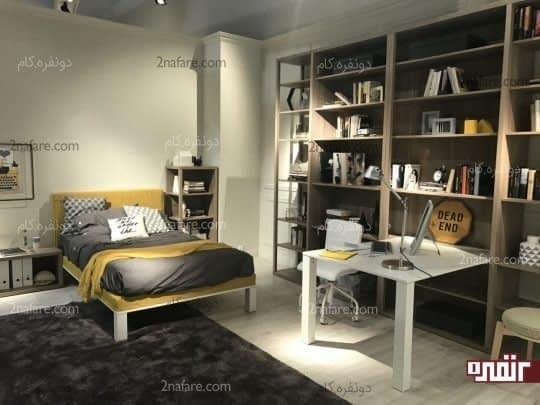 میز میتواند جزئی از دیوار و قفسه های اطراف خود باشد
