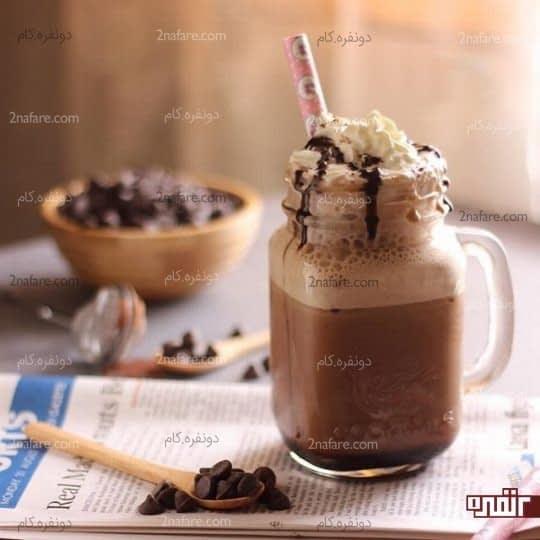 میلک شیک فراپه قهوه