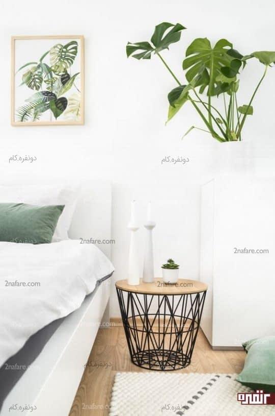 هماهنگی بین گل ها و تابلوهای دیواری