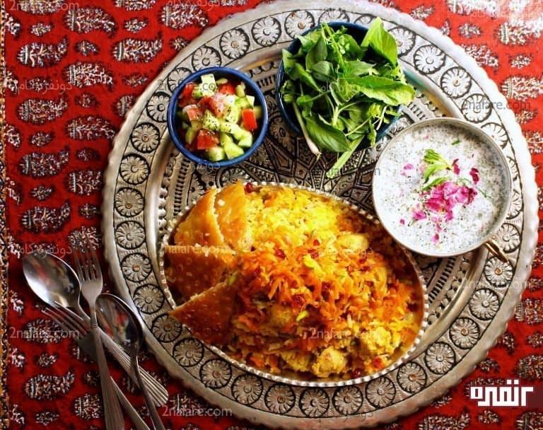 هویج پلو شیرازی